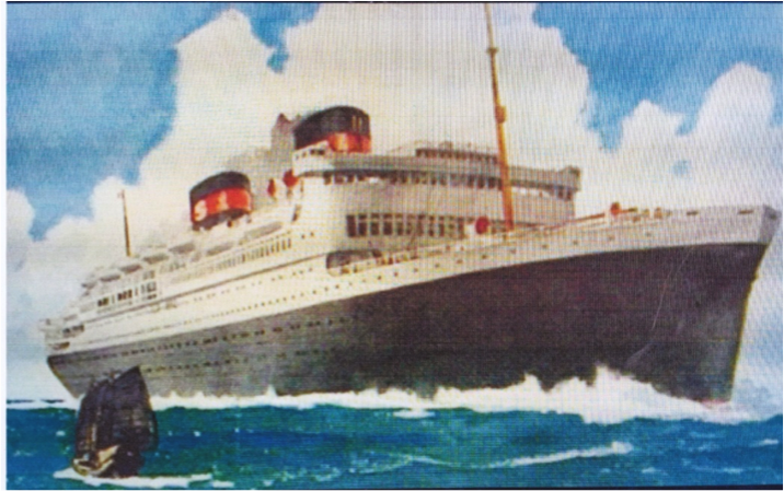 SS President Hoover off the China Coast