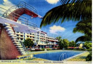 The Manila Hotel Poolside (1930's)